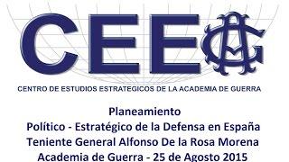 Planeamiento político – estratégico de la Defensa en España
