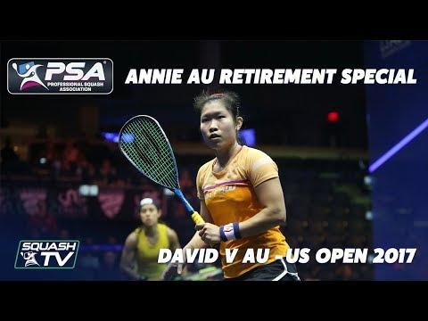 Squash: Annie Au Retirement Special - David v Au - US Open 2017 - FULL MATCH