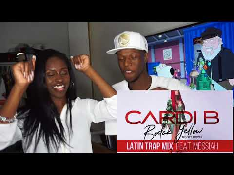 Cardi B - Bodak Yellow Latin Trap Mix Feat. Messiah [Official Audio] REACTION