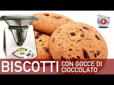 video ricetta: bimby - biscotti con gocce di cioccolato