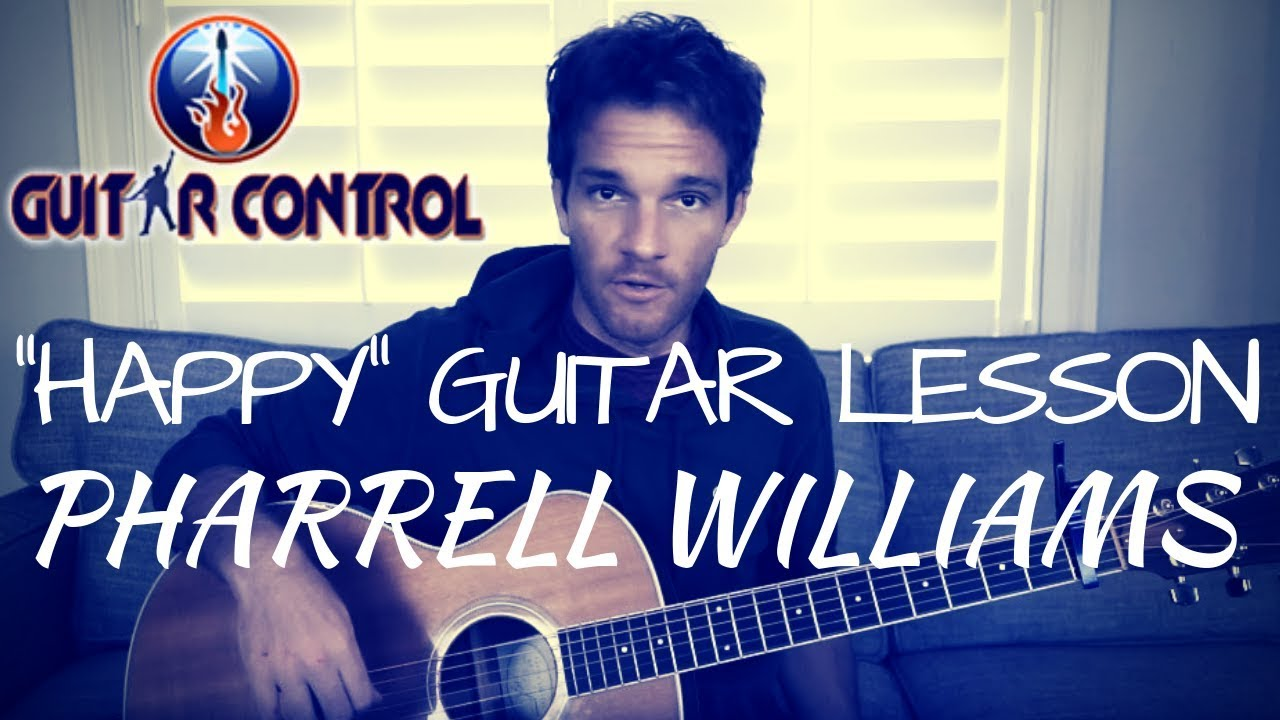 """How to Play """"Happy"""" by Pharrell Williams – Easy Acoustic Guitar Lesson"""