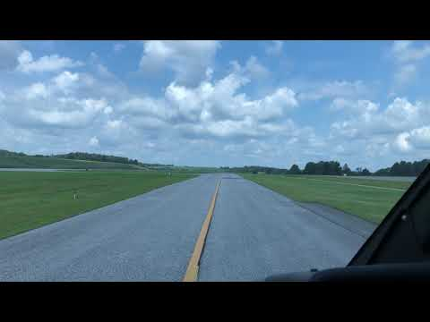 Departing the taxiway at KDMW in an Agusta 109C...