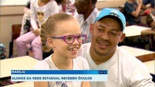 Alunos da rede estadual passam por avaliação, recebem óculos e desempenho escolar melhora