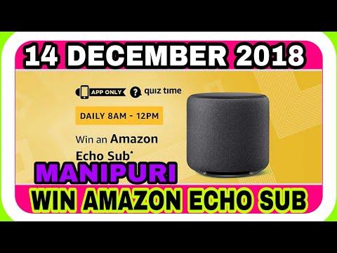AMAZON QUIZ TODAY  14 DECEMBER 2018 AMAZON QUIZ ANSWERS