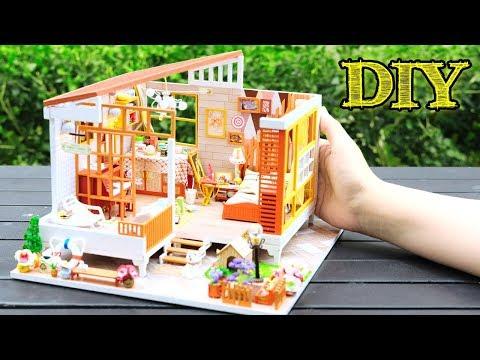 DIY Miniature Dollhouse Kit || Jarest Cabinet ( With Full Furniture & Lights )