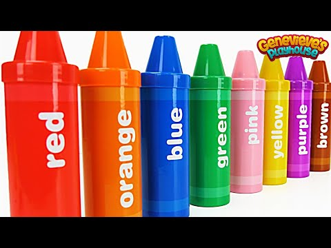 Best Learning Video for Toddlers Learn Colors with Crayon Surprises!