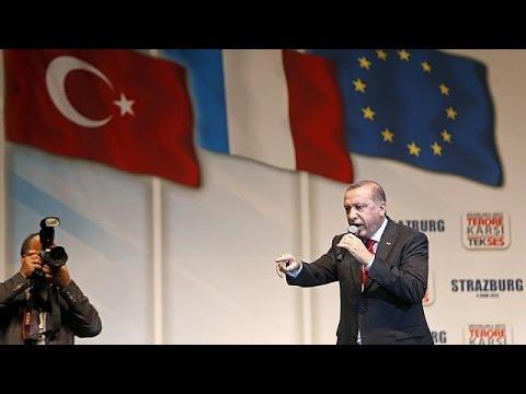 Στρασβούργο: Ομιλία Ερντογάν σε προεκλογικούς τόνους