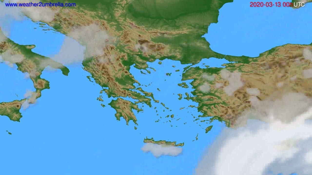 Cloud forecast Greece // modelrun: 00h UTC 2020-03-12