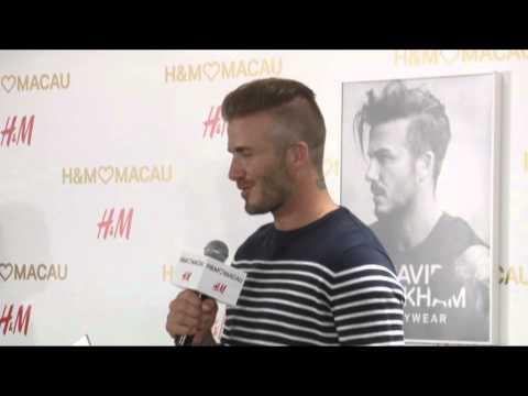 David Beckham出席H&M活動