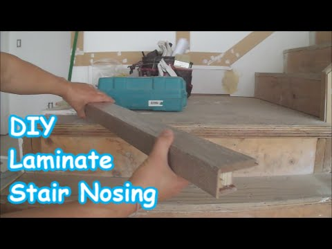Laminate Stairs Installation: How to Make Stair Nosing Yourself Tips Mryoucandoityourself