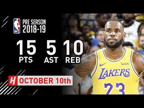 LeBron James SICK Highlights Warriors vs Lakers - 2018.10.10 - 15 Pts, 10 Reb, 5 Ast, BEAST!