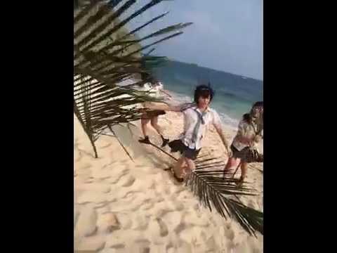 NMB48 : Yamamoto Sayaka being a goofball (Bokura no Eureka) (видео)