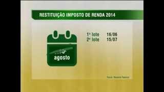 NBR NOTÍCIAS - 07.04.14: A Receita Federal divulgou, nesta segunda-feira (7), o calendário de restituições do Imposto de Renda 2014. A liberação será efetuad...