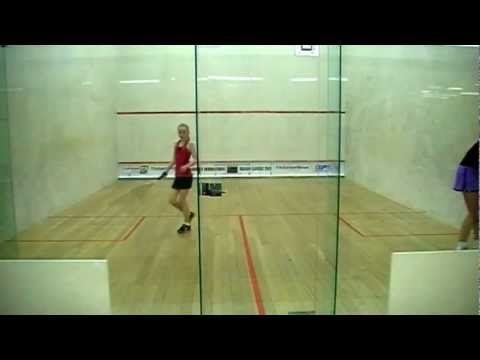 Kaitlyn vs Emily Squash U19 Final 2012 game 2