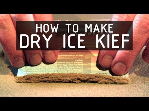 How To Extract Kief From Cannabis Flowers Using Dry-ice (solid Co2): Cannabasics #9