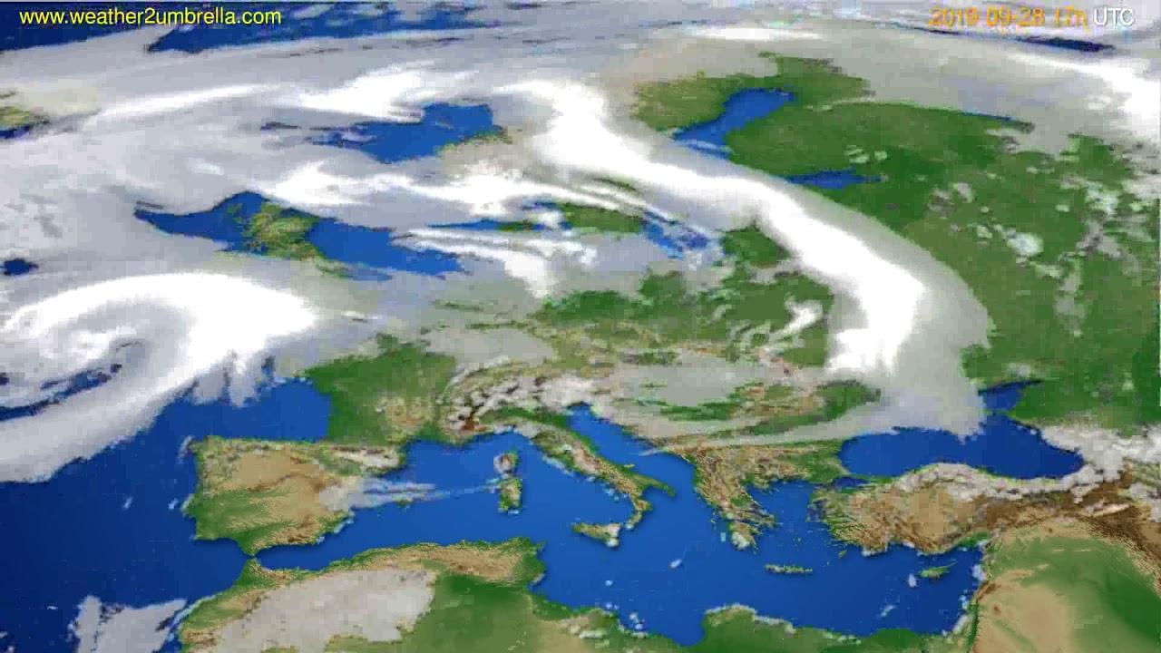 Cloud forecast Europe // modelrun: 00h UTC 2019-09-27