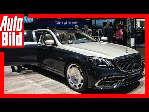 Mercedes-Maybach S-Klasse (Genf 2018) Sitzprobe/Detai ...