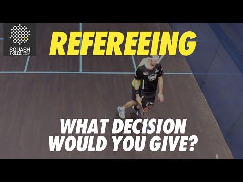 Squash Refereeing: Simon Rösner v Alan Clyne - Stroke