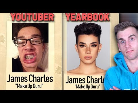 Youtubers School Yearbook Pictures! (then And Now)