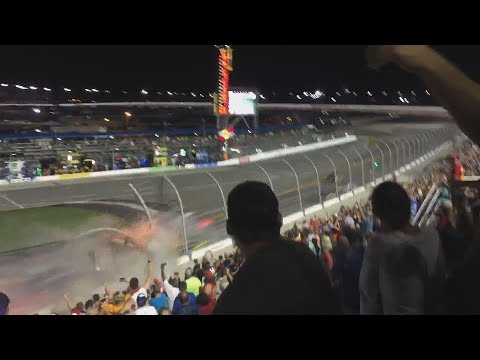 Watch 20+ NASCAR fans' camera angles compiled into one video - Austin Dillon's brutal wreck @ Daytona in July 2015. [3:07]