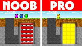 Among Us Vs Minecraft - NOOB VS PRO: SECRET ROOM CHALLENGE!