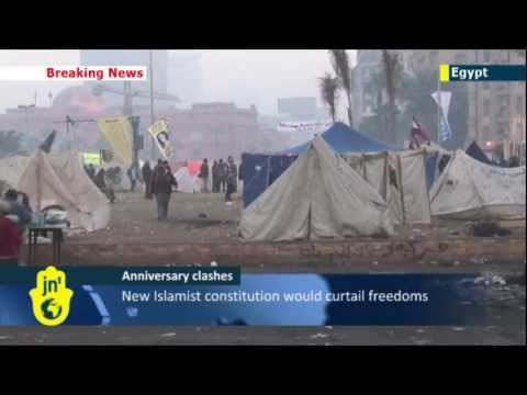 Clashes in Egypt: Police and demonstrators skirmish on revolution's 2nd anniversary