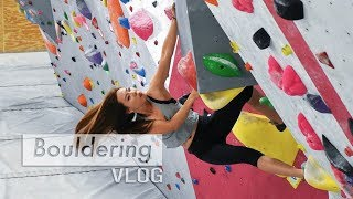 Training at Origin Climbing Gym by Bouldering Vlog