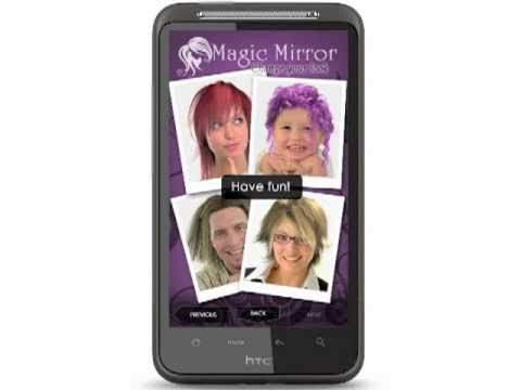 Video of Magic Mirror Demo, Hair styler