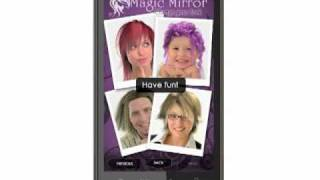 Magic Mirror Demo, Hair styler YouTube video
