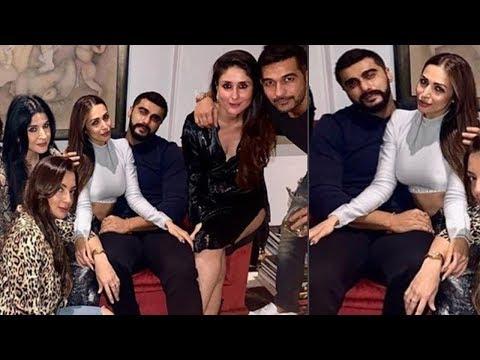 Malaika Arora & Arjun Kapoor Together Doing Party with Kareena Kapoor & Saif Ali Khan