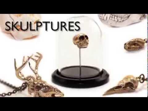 Skulptures Kickstarter Campaign 3D printing, 3d printing metal, Skull, Bones, skull clip art, gold n