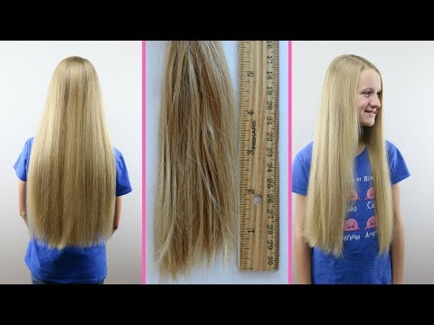 Hair cutting - Long Hair to Shorter Hair Bee's 2nd Haircut Children with Hair Loss Locks of LoveBabesInHairland