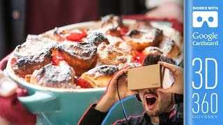 Donut Pudding | 360 VR 3D Video by SORTEDfood
