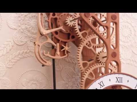 Brian Law - First clock to incorporate the new woodenclocks gravity escapement. The design of this escapement is based on the Arnfield escapement developed by Jim Arnfie...