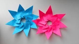 Новогодняя Звезда из бумаги. Оригами поделки на Новый Год 2018