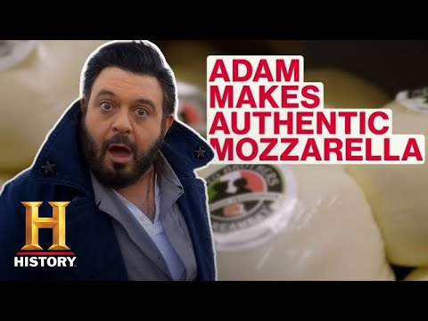 Modern Marvels: Adam Richman Makes Authentic Mozzarella (Season 18) | History