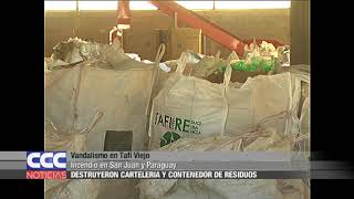 Vandalismo en Tafí Viejo