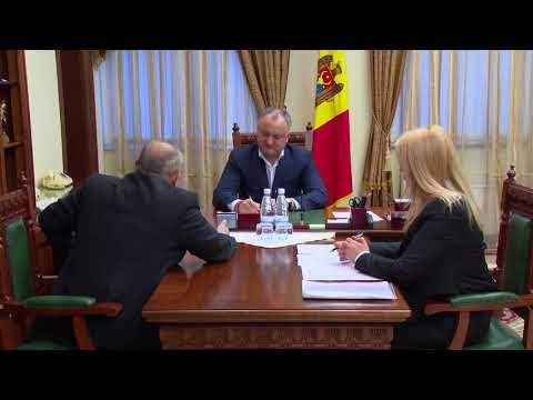 President of Moldova had a traditional reception of citizens