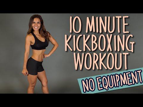 10 Minute Cardio Kickboxing Workout - No Equipment