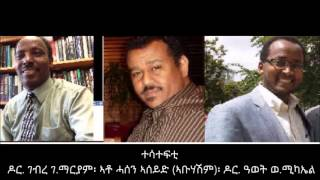 National Reconciliation -  A Panel Discussion Hosted By Radio Voice Of Eritrea -Canada-
