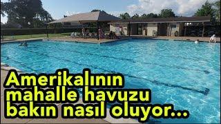 Amerikan mahallelerinde mahalle sakinlerinin yüzebilmesi için halka açık havuzlar mevcut. Arkadaşlarımıza misafirliğe gittiğimizde ailecek bu havuzdan yararlanma fırsatımız oldu. Sizlerle bu güzel mekanı paylaşmak istedik.
