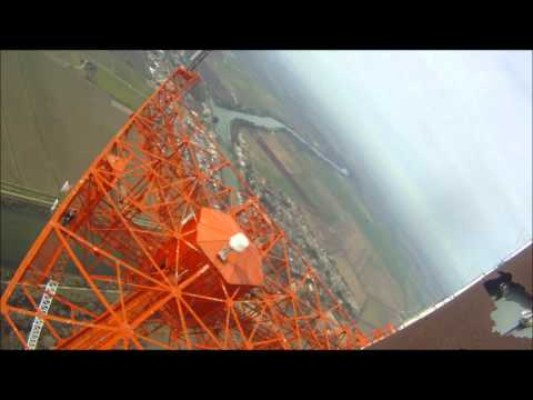 Climbing to the top of a 1700 foot tall tower to change a light