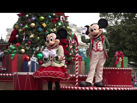 4K Mickey's Once Upon A Christmastime Parade Magic Kingdom