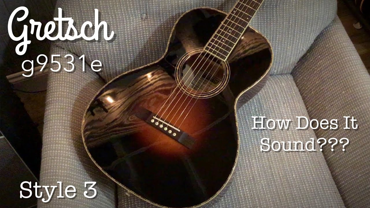 Gretsch G9531 e Style 3 Acoustic Electric Guitar