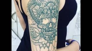 Tatouage Crâne sur bras