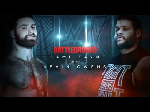 WWE Batteground 2016 |Sami Zayn VS Kevin Owens