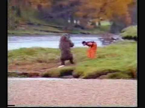Funny banned commercial - man fights bear!!!