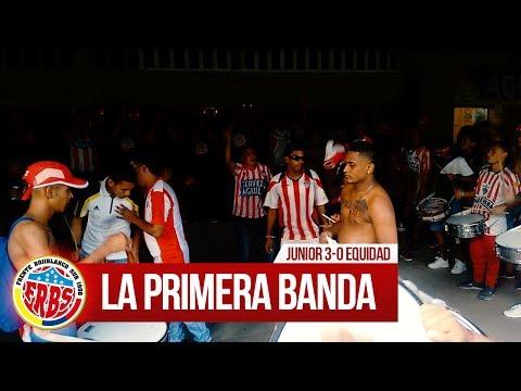 La primera banda - Previa FRBS, Junior 3-0 Equidad 2017 - Frente Rojiblanco Sur - Junior de Barranquilla - Colombia - América del Sur