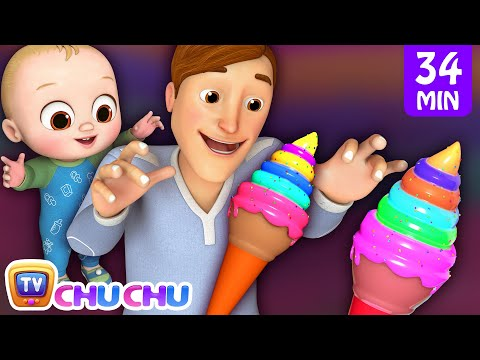 Johny Johny Yes Papa Ice Cream Song + More 3D Nursery Rhymes & Kids Songs - ChuChu TV