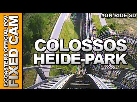 Colossos On-Board Video of the rollercoaster 'COLOSSOS' to the Amusement Park 'Heide-Park' (Soltau, Germany).
